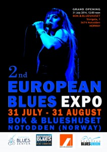 2 EUROPEAN BLUES EXPO FLYER - FRONT